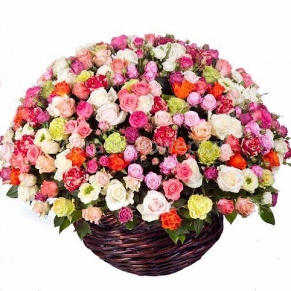 Корзины с цветами большие
